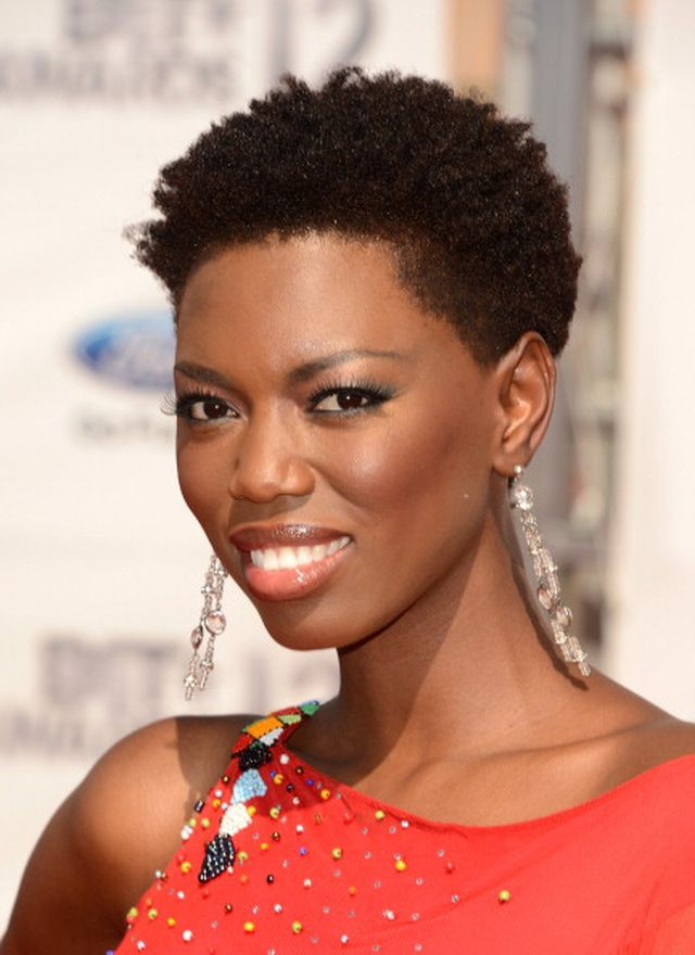 natural hairstyles black short Cute