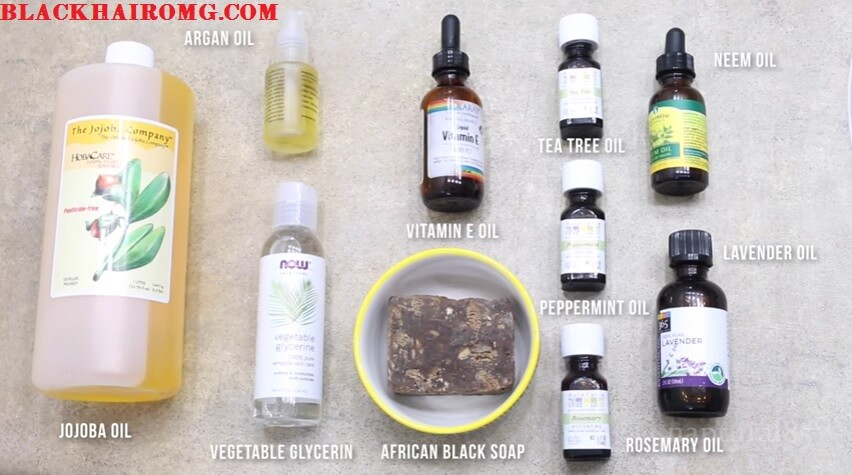 DIY African Black Soap Shampoo For