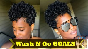 Wash-and-Go Natural Hair type 4c 4b 4a